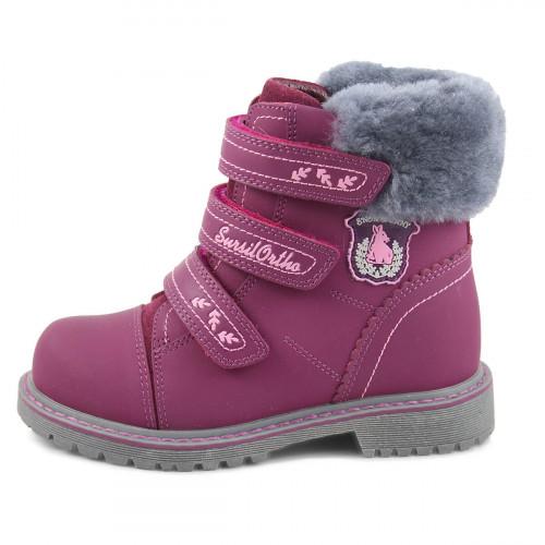 Зимние ортопедические ботинки для девочки Sursil-ortho артикул А45-021