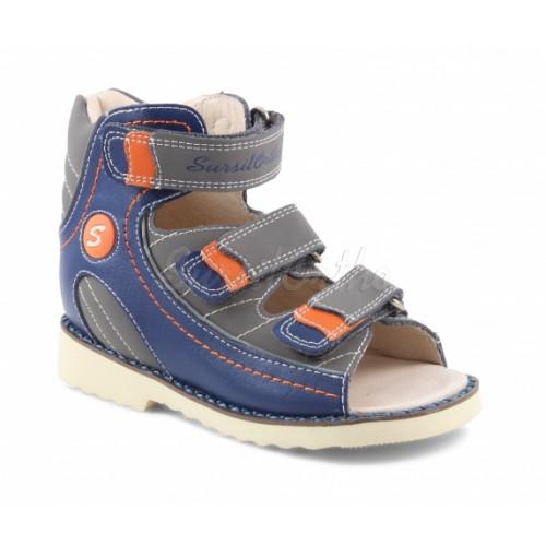 Детские ортопедические сандалии для мальчиков Sursil-ortho артикул 15-250