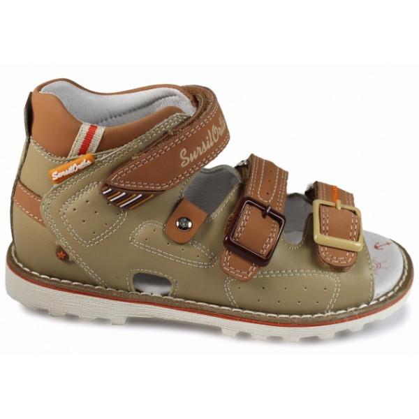 Детские ортопедические сандалии для мальчиков Sursil-ortho артикул 55-186