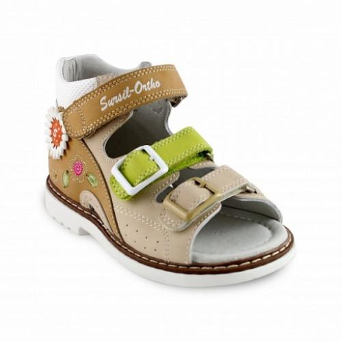 Детские ортопедические сандалии для девочек Sursil-ortho артикул 55-184