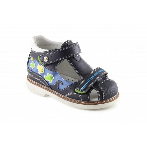 Детские ортопедические сандалии для мальчиков Sursil-ortho артикул 55-304