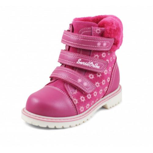Зимние ортопедические ботинки для девочки Sursil-ortho артикул А45-079